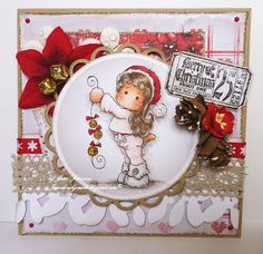 Jane's Lovely Cards: Lovely hAnglar and Sweet Magnolia Challenge DT - Anything Goes