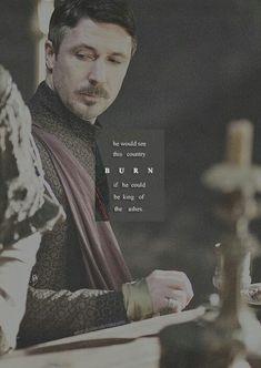 Petyr Baelish - he would see this country burn . Peter Baelish, Lord Baelish, Valar Dohaeris, Valar Morghulis, Sansa Stark, Hbo Tv Series, Aidan Gillen, Game Of Thrones Art, Fangirl