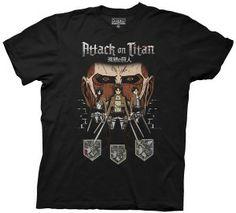 Attack on Titan T-Shirt - Colossal Titan in Shadows - Black - L