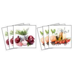 Dekorace - Nálepky na kachličky - Koření a bylinky