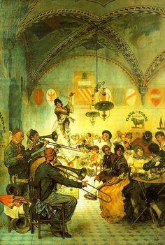 José VILLEGAS (1844-1921). Pintor español. Director del Museo del Prado de 1901 a 1918. Formado primero en el taller sevillano del pintor José María Romero, y en la Escuela de Bellas Artes de Sevilla, completó su aprendizaje junto a Eduardo Cano de la Peña. Una vez concluidos sus estudios, el joven artista viajó a Madrid, donde conoció personalmente a Mariano Fortuny, lo que le hizo interesarse por la pintura de género, copió a Velázquez en el Prado, y realizó un viaje por Marruecos; todo…