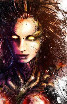 Kerrigan, Queen of Blades by VVernacatola on DeviantArt