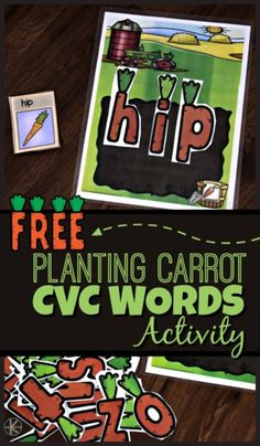 FREE Planting Carrot CVC Words – this kindergarten activity is such a fun way for kids to practice sight words in a fun, hands-on spring educational activity. - Kids education and learning acts Kindergarten Reading, Kindergarten Worksheets, Cvc Words, Sight Words, Family Worksheet, Educational Activities, Easter Activities, Spring Activities, Word Families