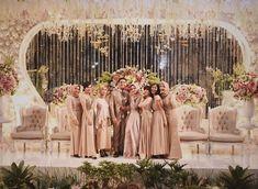 Wedding Reception, Our Wedding, Dream Wedding, Wedding Ideas, Wedding Backdrop Design, Wedding Decorations, Pelaminan Modern, Muslimah Wedding Dress, Wedding Bridesmaid Dresses