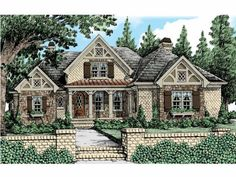 Tudor House Plan with 2681 Square Feet and 3 Bedrooms(s) from Dream Home Source | House Plan Code DHSW53528