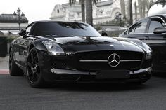 The Black Beast: Mercedes SLS.....this is my car....I will have this in my possession.