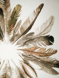feather wreath ~ Kim Krans / The Wild Unknown Feather Wreath, Feather Art, Feather Crown, Bird Feathers, Boho Chic, Bohemian Style, Art Photography, Illustration Art, Wreaths