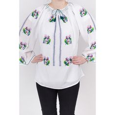 Basic Embroidery Stitches, Tunic Tops, Chic, Blouse, Crochet, Long Sleeve, Floral, Sleeves, Women