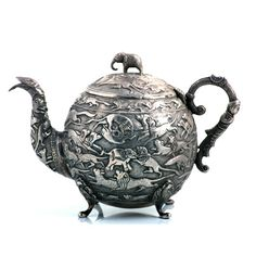 Grays Christmas gift idea 12: Indian silver teapot, circa 1880. From Joseph Cohen Antiques at Grays