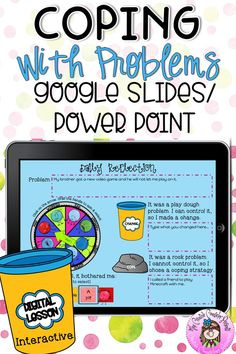 Digital Coping Skills for Rock and Play Dough Problems Interactive Lesson Elementary Counseling, Counseling Activities, Therapy Activities, School Counseling, Play Therapy, Speech Therapy, Social Skills Games, Social Skills Autism, Social Emotional Learning
