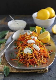 Looking for Fast & Easy Appetizer Recipes, Side Dish Recipes, Vegetarian Recipes! Recipechart has over free recipes for you to browse. Find more recipes like Meyer Lemon Roasted Carrot Strings with Lemon Garlic Sauce. Carrot Recipes, Vegetable Recipes, Real Food Recipes, Vegetarian Recipes, Cooking Recipes, Healthy Recipes, Roasted Fennel, Roasted Carrots, Lemon Garlic Sauce