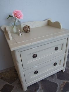 Bedside handpainted in Country grey chalk paint