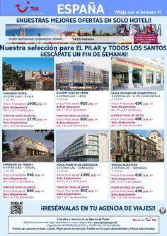 ¡Nuestras mejores ofertas! España solo hotel - El Pilar y Todos los Santos. Precio final desde 63€ - http://zocotours.com/nuestras-mejores-ofertas-espana-solo-hotel-el-pilar-y-todos-los-santos-precio-final-desde-63e/