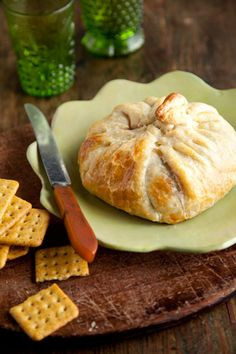 Paula Deen Brie en Croute  I also serve it with a honey mustard or some sort of savory jam or chutney!