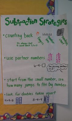 45 Best Math Anchor Charts - Addition and Subtraction images in 2017