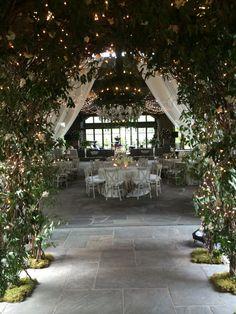 Arbor of vines and gardenias at Old Edwards Inn and Spa. The Farm at Old Edwards Cute Wedding Ideas, Wedding Goals, Perfect Wedding, Wedding Planning, Dream Wedding, Wedding Inspiration, Wedding Venue Decorations, Wedding Themes, Wedding Styles
