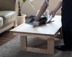 【4/3まで送料無料】天然オイル仕上「栗の木」2WAYローテーブル