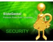 Holding A Lock Security PowerPoint Templates And PowerPoint Backgrounds 0711