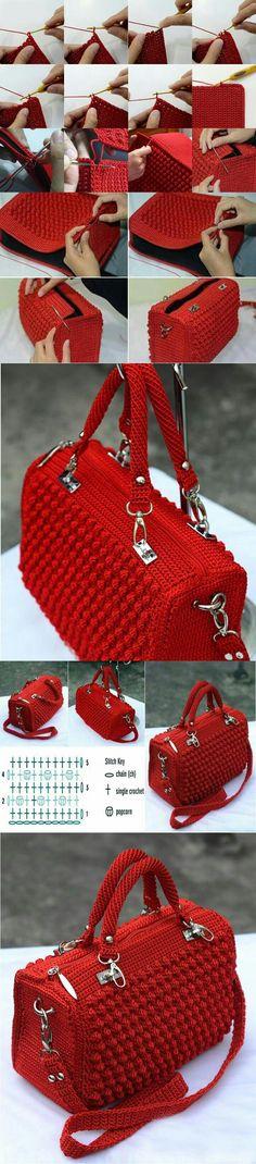 Marvelous Crochet A Shell Stitch Purse Bag Ideas. Wonderful Crochet A Shell Stitch Purse Bag Ideas. Love Crochet, Diy Crochet, Crochet Crafts, Crochet Projects, Crochet Baby, Crochet Bikini, Free Crochet Bag, Crochet Ideas, Diy Crafts