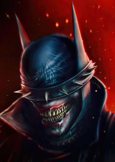 The Batman Who Laughs by Eugene Gore Batman Metal, Batman Dark, Joker Batman, Joker Art, Batman The Dark Knight, Joker And Harley, Superman, Comic Book Characters, Comic Character