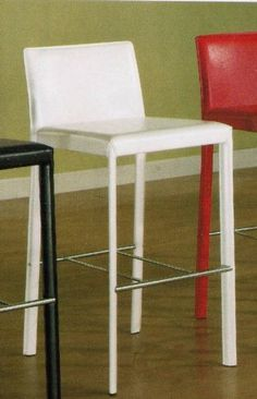 "Set of 2 29""H Counter Height Stools White Leather Like by Coaster Home Furnishings. $194.21. Some Assembly Required. Contemporary Look. Set of Two Bar Stools. White Bar Stool. 29 Inch Seat Height. Dimension: 18 1/2""L x 18 3/4""W x 38 1/2""H  Finish: White  Material: Metal, Leather Like  Set of 2 29""H Counter Height Stools White Leather Like  Features white leather like covered cushion seat and back.  Item is smooth, strong, and durable that easy to clean and hass..."