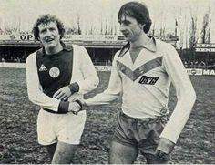 Johan als gastspeler met DS79 tegen het Ajax van Wim Jansen.