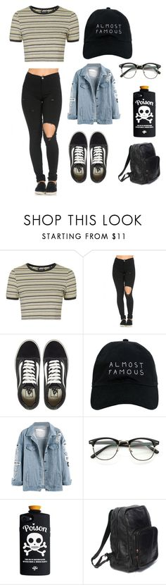 """Untitled #134"" by min1993 ❤ liked on Polyvore featuring Topshop, Vans and Nasaseasons"