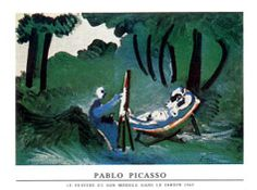 Peintre Son Modele Print by Pablo Picasso at http://AllPosters.com
