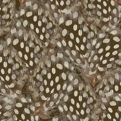 Plumes in Chocolate fabric by willowlanetextiles on Spoonflower - custom fabric