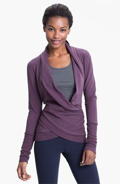 Karma 'Samadhi' Wrap available at Nordstrom: Yoga wear can also be stylish, cozy, and warm. From the street to the studio, this would be an ideal Fall purchase. Karmawear.