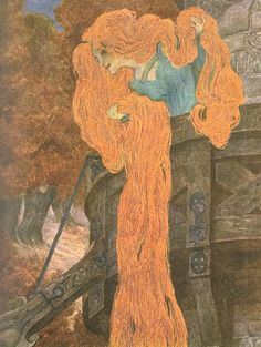 Heinrich Lefler and Joseph Urban - 'Rapunzel' ('Rapunzel') from ''Grimm's Marchen'' (1905)
