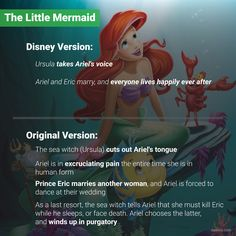 Being Human Made Ariel Physically Ill Childhood Ruined, Right In The Childhood, Disney Jokes, Disney Facts, Disney And Dreamworks, Disney Pixar, Weird Facts, Fun Facts, Cartoon Theories