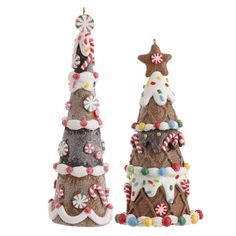 RAZ Cookie Confections 6inch Gingerbread Tree Ornament - Shelley B Home and Holiday
