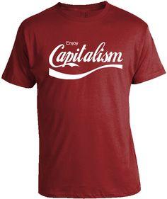 3842796468 Conservative Shirts - Enjoy Capitalism T-Shirt Conservative Republican