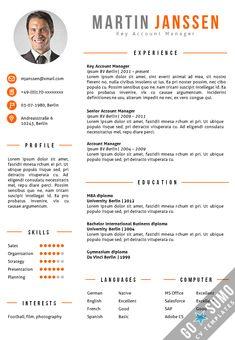 CV Template Berlin Orange