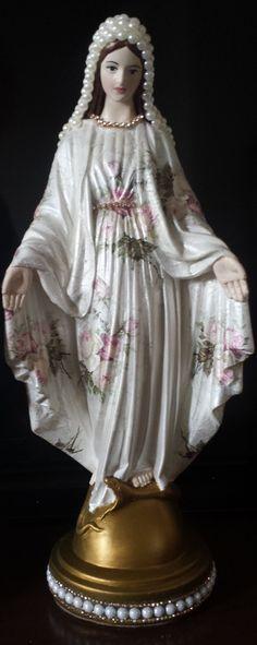 Nossa Senhora das Graças 35 cm - Floral