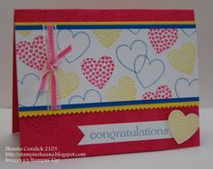 Bright Heart Congrats by stampinshauna - Cards and Paper Crafts at Splitcoaststampers