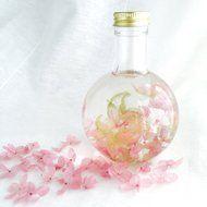 あじさいハーバリウムランプ〜misty pink〜の画像