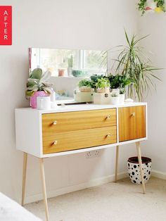 Before & After: A Revamped Vanity (Without Using Paint!)
