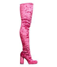 Thigh-high Platform Boots | Cerise | Women | H&M US