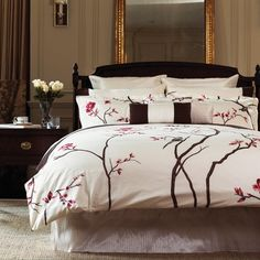 my next bedroom set...sophisticated floweral bedding  | Consider a sophisticated floral that isn't overly feminine.