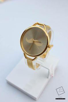 Chic quiero SALE!! RELOJ BIGOTES GOLD $15.990 APROVECHA Y OBTEN TU RELOJ AHORA!  #Handclock Mirror, Watch, Moustaches, Clock, Bangle Bracelets, Accessories, Mirrors, Bracelet Watch, Clocks