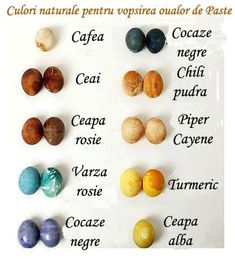 Use these recipes made from household ingredients to create natural egg dye in beautifully subdued shades. Leave these naturally dyed Easter eggs soaking in the refrigerator overnight for the richest colors. Holiday Fun, Holiday Crafts, Easter Egg Dye, Natural Dyed Easter Eggs, Easter Bunny, Egg Decorating, Samhain, Shibori, Easter Crafts