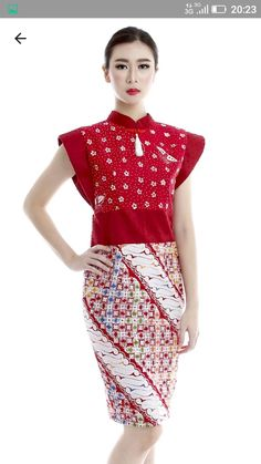 Batik Kebaya, Batik Dress, Blouse Dress, Batik Fashion, China, Mom Style, Fashion Sketches, Ikat, Casual