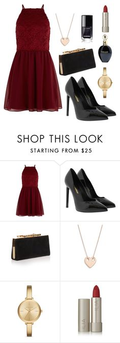 """Untitled #9"" by paulinahr ❤ liked on Polyvore featuring New Look, Yves Saint Laurent, Jimmy Choo, Ginette NY, Michael Kors, Ilia and Roberto Cavalli"