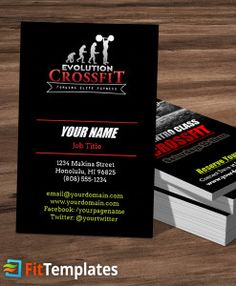 Dance class business card template dance class card templates and crossfit business card template from fittemplates reheart Choice Image