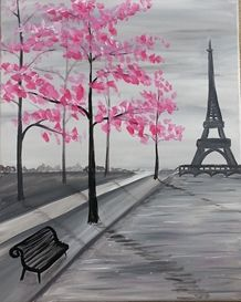 Paint Nite - Paris Spring. Use ORLANDOVIP at checkout for $20 off all tickets at paintnite.com