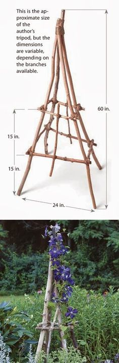 how to build a rustic branch & twig tuteur   Supplies You Will Need  A large number of branches measuring between 14 inch and 1 inch i...