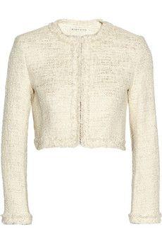 Alice + Olivia Cropped metallic tweed jacket | NET-A-PORTER