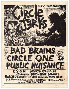 Circle Jerks with Bad Brains, Circle One1981 Art by Shawn Kerri